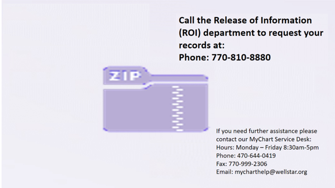 Review Our Tipsheet For Requesting Your Medical Records Via Mychart Account Here